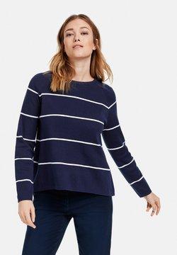 Gerry Weber - Sweatshirt - blau/ecru/weiss ringel
