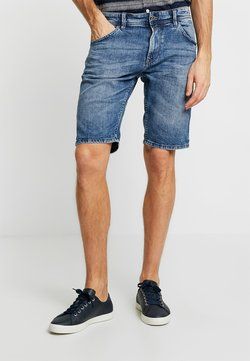 TOM TAILOR DENIM - REGULAR FIT - Jeans Shorts - light stone wash denim blue