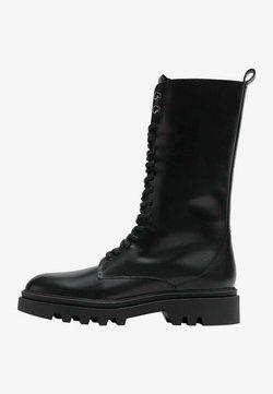 Massimo Dutti - Lace-up boots - black