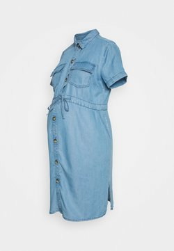 New Look Maternity - DRAWSTRING DRESS - Vestido vaquero - light blue