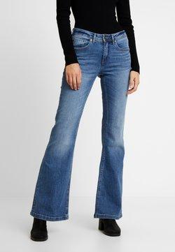 Blendshe - BSELVA BRIGHT FLARED - Relaxed fit jeans - dark blue