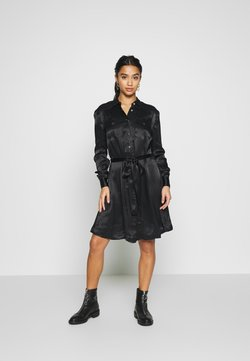 Object Petite - OBJMAXIME DRESS - Blousejurk - black