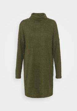 JDY - JDYSARA TONSY NECK DRESS - Vestido de punto - kalamata