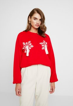Missguided - CHRISTMAS RED SNOWFLAKE JUMPER - Jumper - red