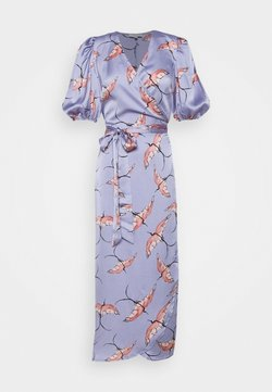 Never Fully Dressed - SLEEVE SWALLOW WRAP DRESS - Vestido de cóctel - purple