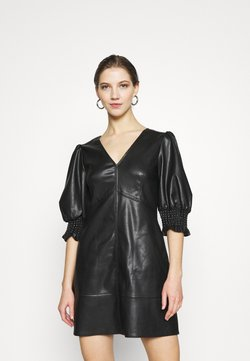 Topshop - V NECK MINI - Robe d'été - black