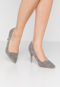 Lost Ink - COURT WITH BACK COUNTER DETAIL - Zapatos altos - grey
