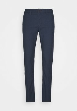TOM TAILOR - STRUCTURE CHINO - Chinot - blue two tone