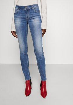 Marc O'Polo - TROUSER MID WAIST - Jeans slim fit - dark-blue denim