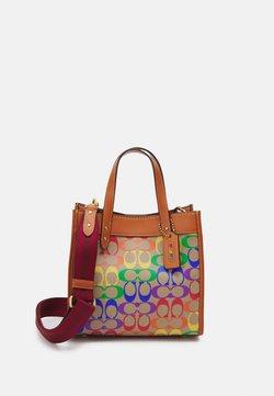 Coach - PRIDE SIGNATURE TOTE - Shopping bag - tan natural/multi