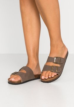 Rubi Shoes by Cotton On - REX DOUBLE BUCKLE SLIDE - Hausschuh - brown