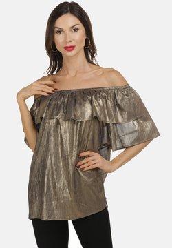faina - CARMEN - Bluse - schwarz gold