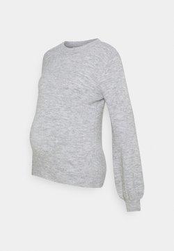 Pieces Maternity - PCMPERLA - Jersey de punto - light grey melange