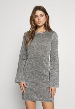 Good American - SPARKLE BELL DRESS - Day dress - silver