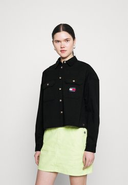 Tommy Jeans - CROPPED UTILITY - Camisa - black