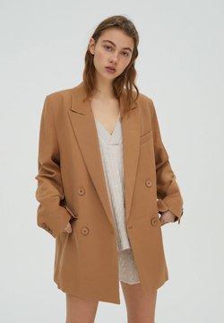 PULL&BEAR - Manteau court - brown