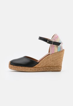 Kurt Geiger London - MONTY RAINBOW - Plateausandalette - black
