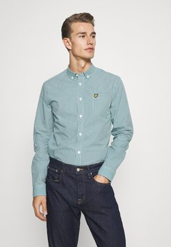Lyle & Scott - MICRO CHECK - Chemise - aqua salt