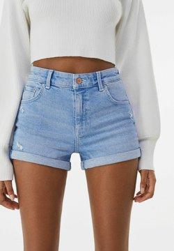 Bershka - Jeans Shorts - blue