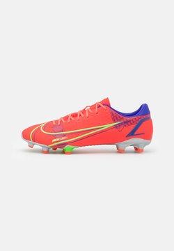 Nike Performance - MERCURIAL VAPOR 14 ACADEMY FG/MG - Voetbalschoenen met kunststof noppen - bright crimson/metallic silver