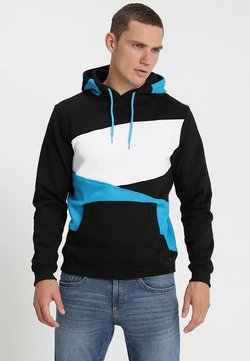 Urban Classics - ZIG ZAG  - Hoodie - black/turquoise