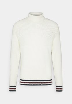 Ben Sherman - TEXTURED ROLL NECK - Strickpullover - ivory