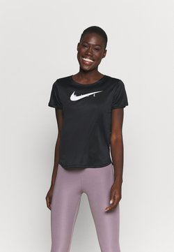 Nike Performance - RUN - T-Shirt print - black/reflective silver