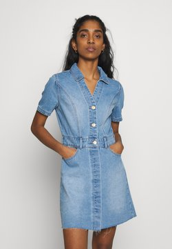 Noisy May - NMLISA DRESS - Denim dress - light blue denim