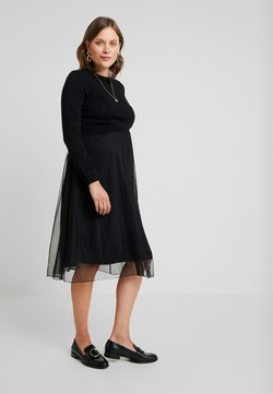 Esprit Maternity - DRESS MIX NURSING  - Korte jurk - black