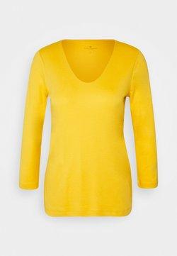 TOM TAILOR - DOUBLE FRONT - Camiseta de manga larga - california sand yellow