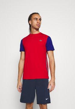 Lacoste Sport - TENNIS - T-shirt imprimé - red/cosmic