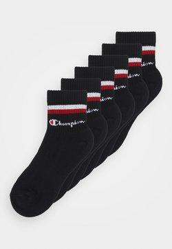 Champion - ANKLE SOCKS STRIPES 6 PACK UNISEX - Sportsocken - black/red/white