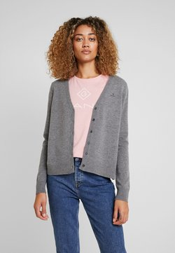 GANT - SUPERFINE - Strickjacke - dark grey melange
