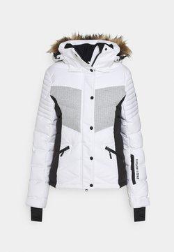 Superdry - SNOW LUXE PUFFER - Kurtka narciarska - white