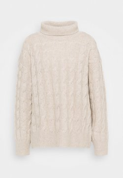 FTC Cashmere - HIGHNECK - Strickpullover - natural