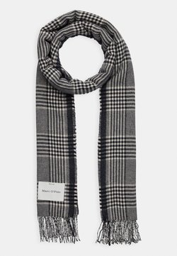 Marc O'Polo - SCARF WOVEN STRUCTURED HOUNDSTOOT - Schal - dark blue