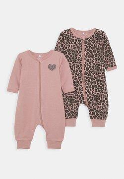 Name it - NBFNIGHTSUIT ZIP 2 PACK - Pijama - woodrose