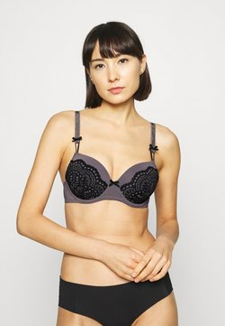 LASCANA - PADDED BRA - Bügel BH - grey/black