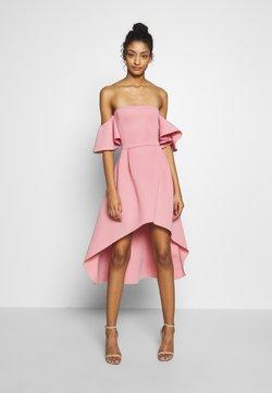 Missguided - BARDOT HIGH LOW MIDI DRESS - Vestido de cóctel - blush