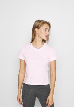 Reebok - TEXTURE LOGO TEE - Printtipaita - light pink