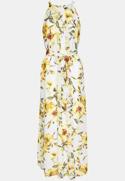 Wallis - GLORAL PLEATED DRESS - Maxi-jurk - ivory