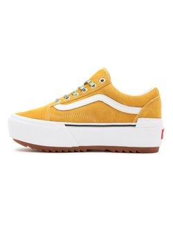 Vans - UA OLD SKOOL STACKED - Sznurowane obuwie sportowe - multi lace gldnylw/trwht