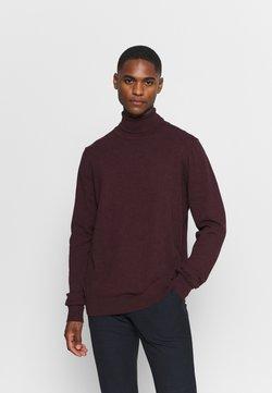 Pier One - Stickad tröja - mottled bordeaux