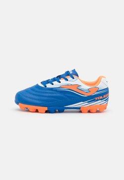 Joma - TOLEDO UNISEX - Chaussures de foot à crampons - royal/orange