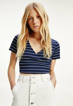 Tommy Jeans - T-Shirt print - twilight navy / white stripe