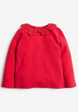 Next - BRUSHED BRODERIE COLLAR  - Longsleeve - red