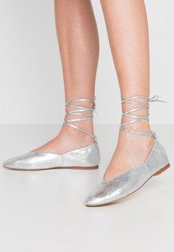 Zign - Ballerinat nilkkaremmillä - silver