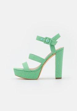 Guess - RAYONA - Korkeakorkoiset sandaalit - mint