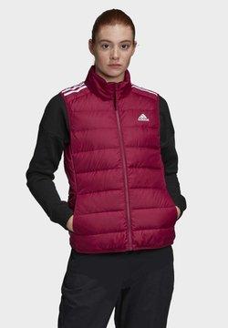 adidas Performance - ESSENTIALS DOWN VEST - Liivi - burgundy