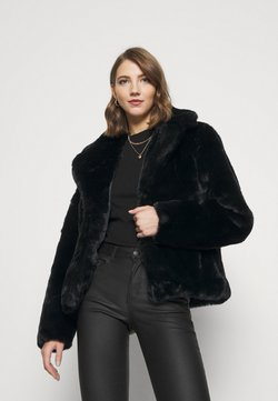 Missguided - SHORT COLLAR COAT - Winterjacke - black